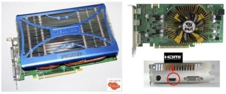 Versiones de la 9600 GT que ocupan dos <em>slots</em> por ventilación