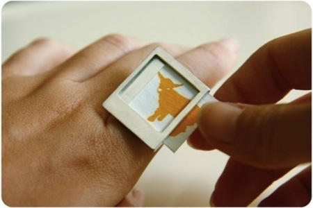 Anillo Polaroid, llevando tus fotos en miniatura siempre contigo