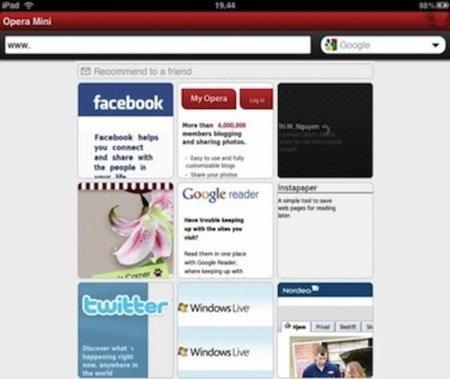Opera lo intenta de nuevo, ahora en el iPad