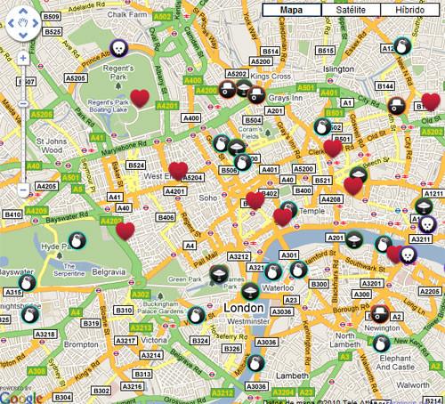 Baños Arabes Londres:Londres de cine: mapa interactivo de locaciones