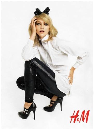 H&M, campaña Otoño-Invierno 2009/2010 con Pivovarova y Mihalik
