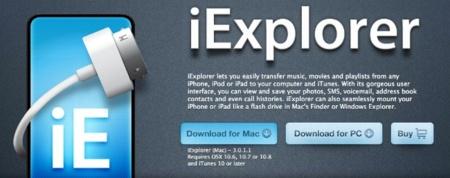iExplorer 3, un gestor de contenidos para tu iPod, iPhone o iPad