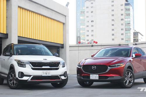 Comparativa: KIA Seltos vs. Mazda CX-30. Dos SUV con ánimo de superventas (+ video)