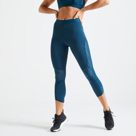 Mallas Leggings Mujer 7 8 Domyos 921 Azul