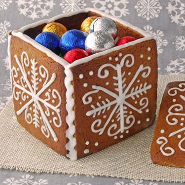 Cómo realizar cajas con masa de galletas: receta o manualidad comestible de Navidad para