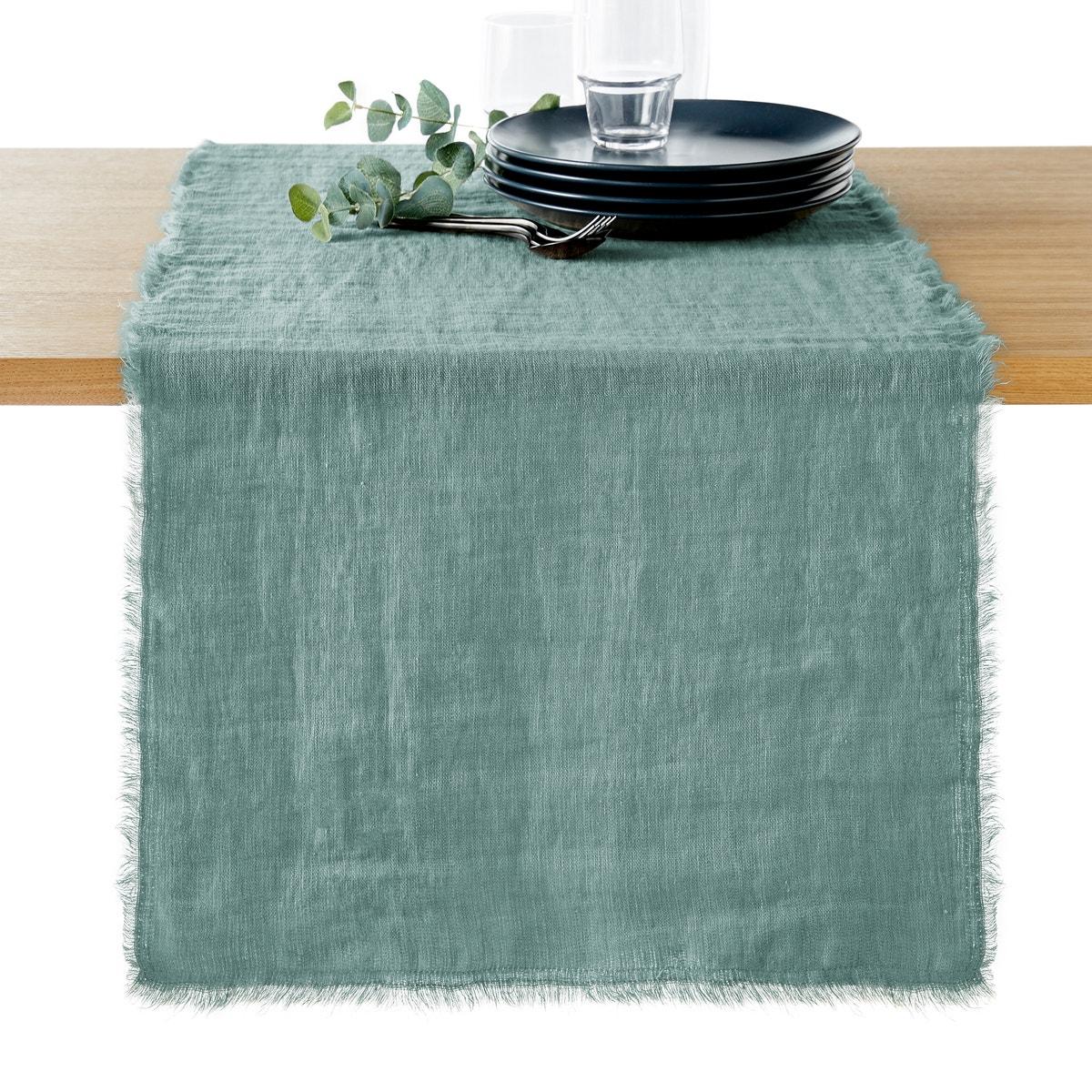 Camino de mesa de lino lavado de La Redoute
