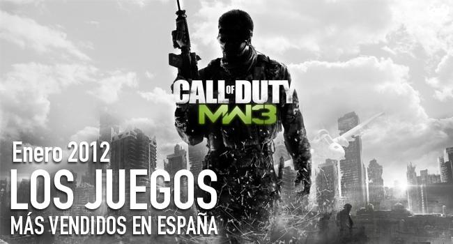 Los juegos más vendidos en España en Enero 2012