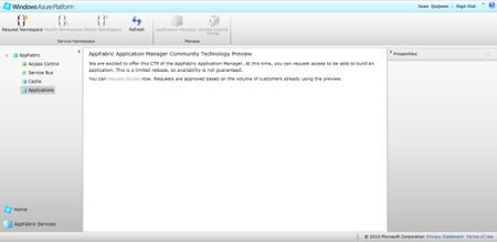 Windows Azure AppFabric alta CTP