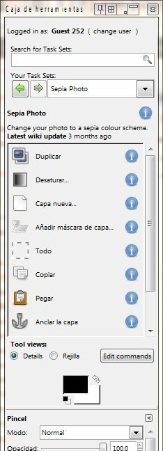 Caja de herramientas de AdaptableGIMP