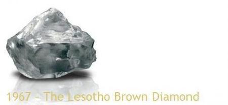 Diamantes famosos de la mina Letseng, Lesotho