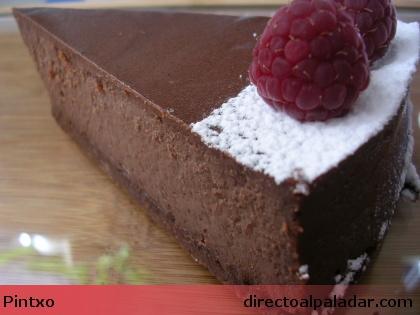 Receta de tarta de queso y chocolate