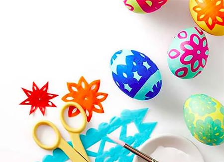 Como Decorar Huevos Con Papel De Seda
