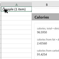 Excel permitirá utilizar más de 100 tipos nuevos de datos enriquecidos: alimentos, películas, ubicaciones geográficas...
