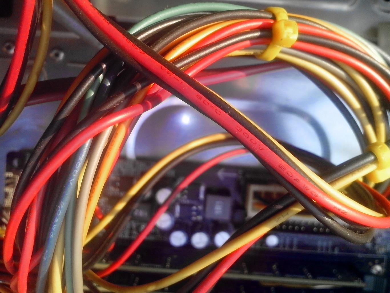 MOSOTECH Organizador Cables Cubre Cables de 2 x 3m Flexible Funda Organizador Cables Recoge Cables para Office y PC Escritorio-Negro y Gris /Ø2.2cm y /Ø1.6cm Organizador de Cables Mesa