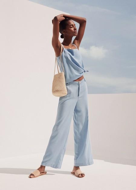 Mango Azul Cielo Pantalon 01