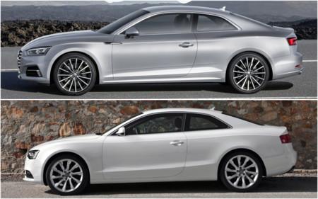 El nuevo Audi A5 Coupé frente a su predecesor: comparativa visual