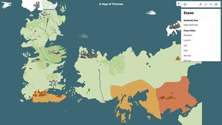 Este mapa interactivo de 'Juego de Tronos' te permite ver qué lugares han recorrido los personajes de la serie