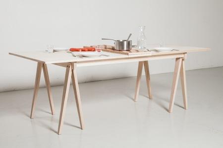 Una mesa muy versátil de comedor y de oficina, dos en uno
