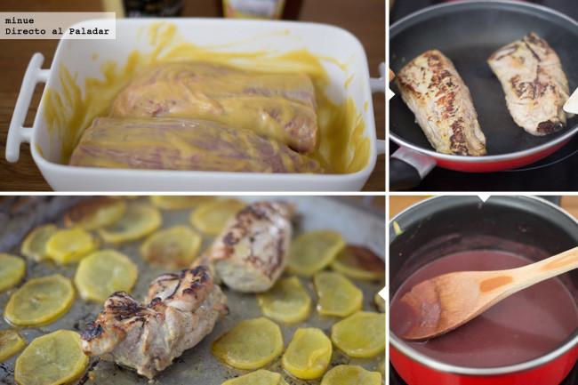 Receta de solomillo de cerdo al horno con salsa de vino - Como preparar un solomillo de cerdo al horno ...
