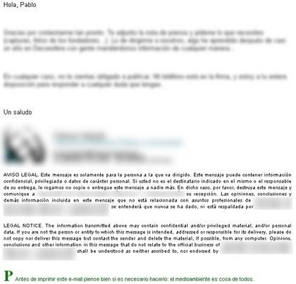 Algunas reflexiones sobre las firmas de correo electrónico (II)