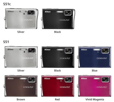 Nikon Coolpix S51c y Coolpix S51