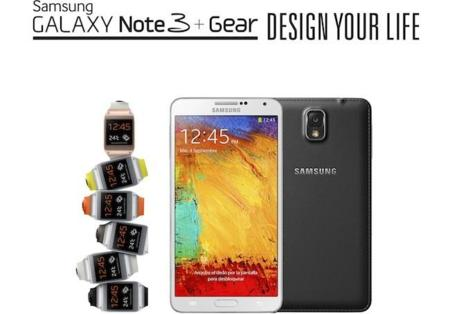 Precios oficiales en España de Galaxy Note 3 y Galaxy Gear: 749 euros y 299 euros