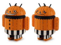 La imagen de la semana: La figura Android Mini disfrazada de calabaza para Halloween 2013