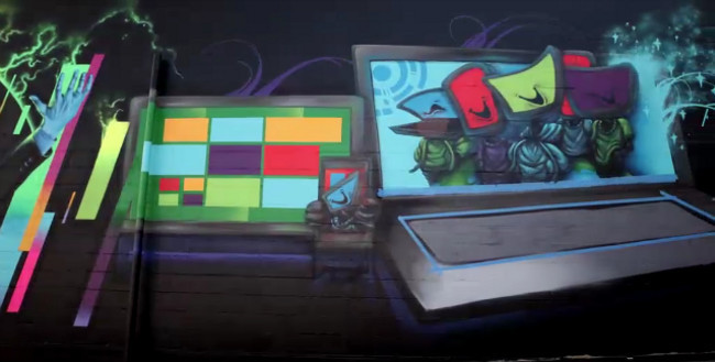 Windows 8 Street Art
