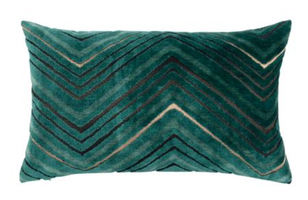 Funda De Cojin Con Estampado Color Verde Y Dorado 30x50 Cm Ascot