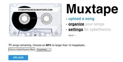 Muxtape, un reproductor online un tanto minimalista