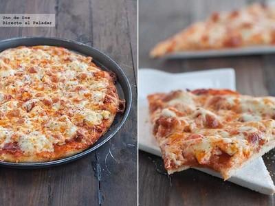 Receta de pizza de chistorra y pollo