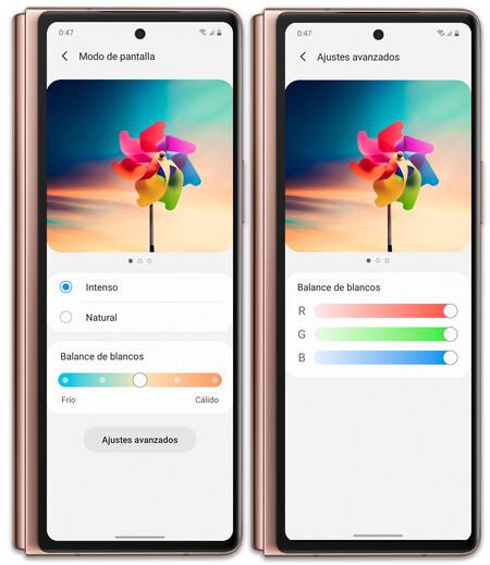 Samsung Galaxy Z Fold 2 02 Ajustes Pantalla