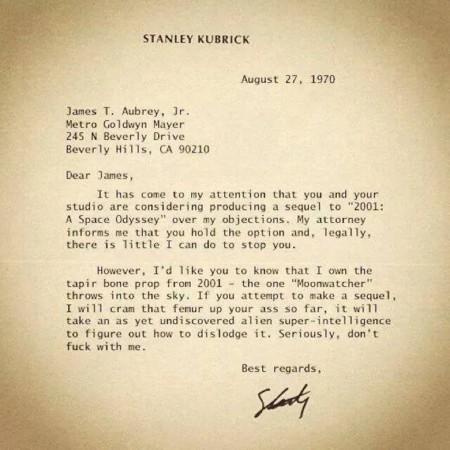 carta stanley kubrick fake