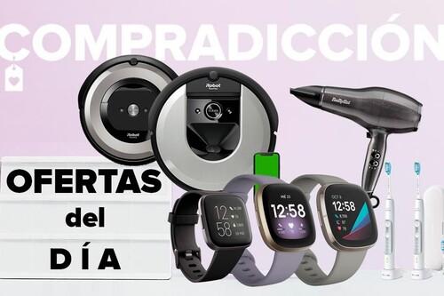 Ofertas del día en Amazon: relojes y pulseras deportivos Fitbit, robots aspiradores Roomba o cuidado personal Philips y BaByliss a precios rebajados