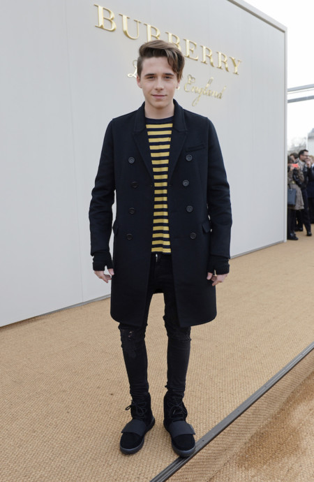 Brooklyn Beckham Wearing Burberry At The Burberry Menswear January 2016 Show