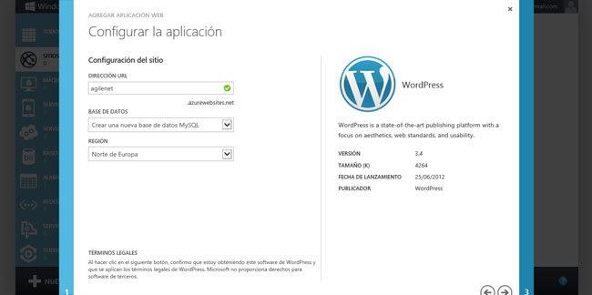 Hablando de Azure, configuración del Site