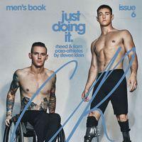 Los atletas paralímpicos Rheed McCracken y Liam Malone imponen en la portada del CR Fashion Book
