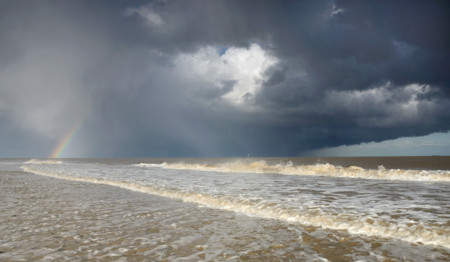 James Bailey Hailstorm And Rainbow Over The Seas Of Covehithe