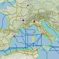 Este mapa interactivo te permite viajar por el Imperio Romano simulando las condiciones del siglo III
