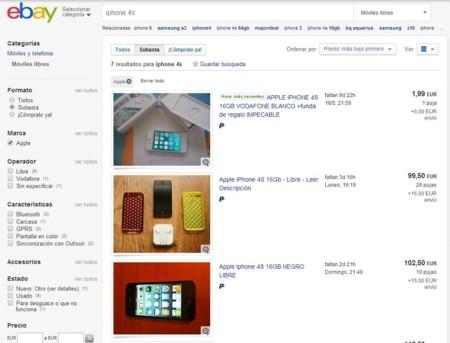 Ejemplos de anuncios en eBay