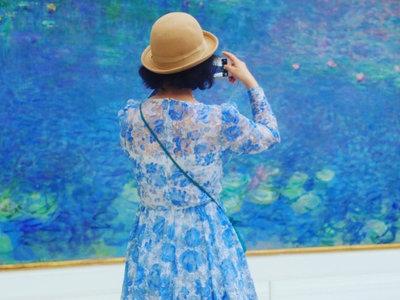 A juego con el arte: este fotógrafo busca a personas que combinen con pinturas... y el resultado es maravilloso