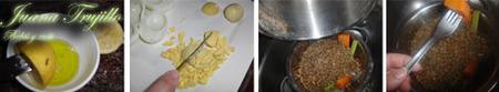 Preparación de la ensalada de lentejas