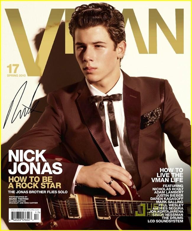 Nick Jonas en la revista VMan