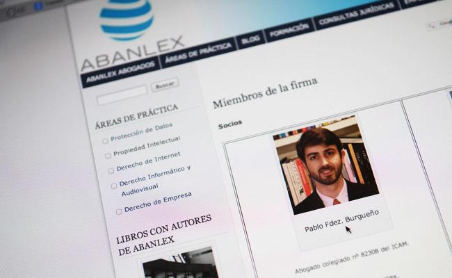 Pablo Fernández Burgueño en Abalex