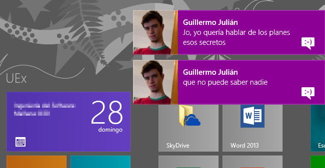 Notificaciones de Windows 8