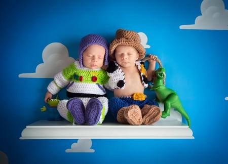 Las tiernas fotografías de bebés inspiradas en 'Toy Story'