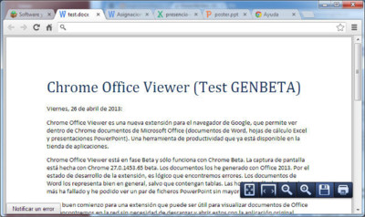 Chrome Office Viewer, nueva extensión para ver documentos de MS Office