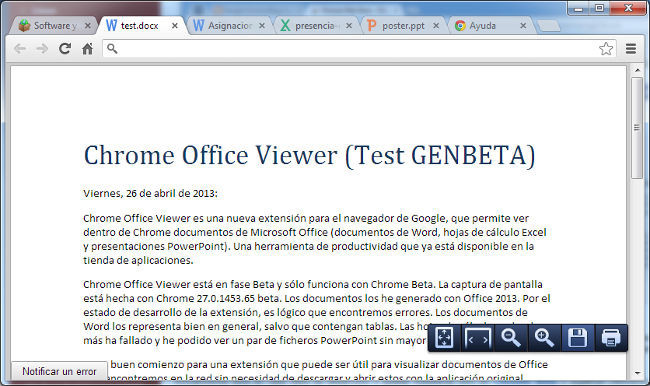 Extensión Chrome Office Viewer