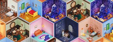 Descarga gratis estas preciosas ilustraciones 3D basadas en habitaciones icónicas y que funcionan genial como fondo para Zoom
