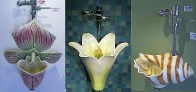 Urinarios florales